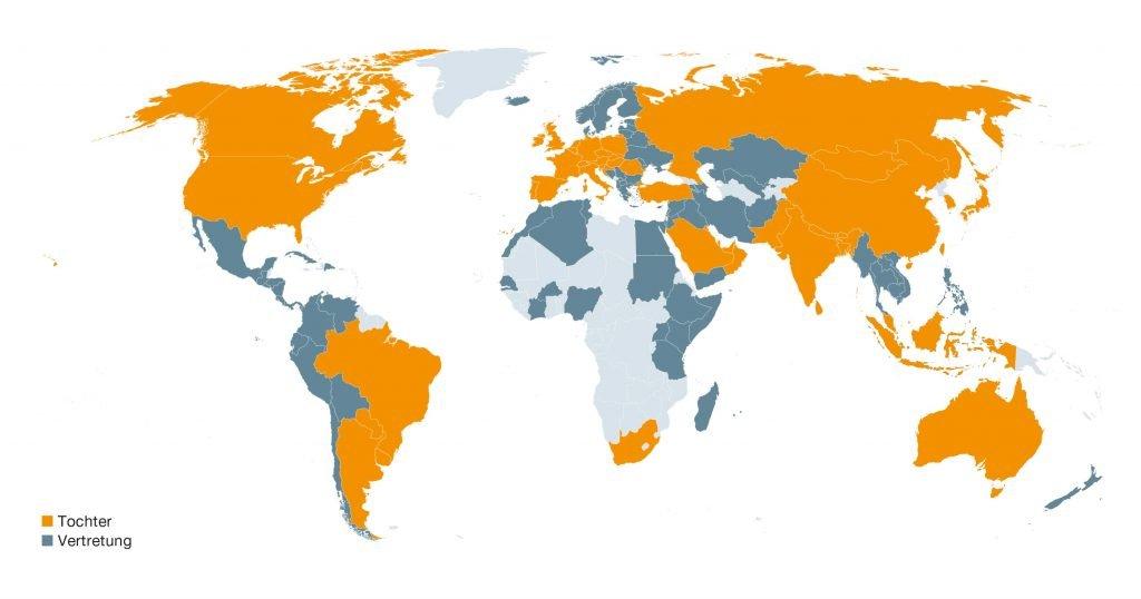 Testo weltweite Töchter und Vertretungen