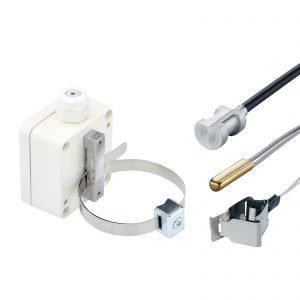 Pipe contact probes, contact probes, contact temperature probes